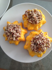 Stuffed Patty Pan Squash with Quinoa Filling
