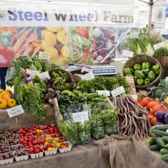 Steel Wheel Farm Stand